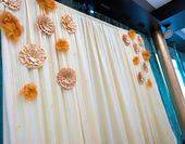Adorned festive hall — Stock Photo