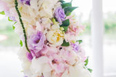 Wedding arch with closeup detail — Stock Photo
