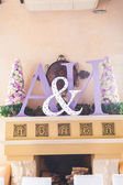 Initials of the bride and groom — Stock Photo
