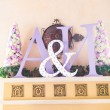 Stock Photo: Initials of bride and groom