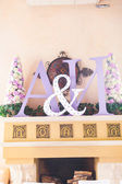 Initials of the bride and groom — Stockfoto