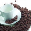 Cup on coffee beans — Stock Photo #34442531