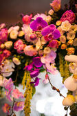 Floral wedding arch — Stock Photo