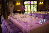 Celebratory tables in the banquet hall — Stock Photo