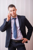 Handsome businessman — Stock Photo