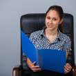Stock Photo: Business womon chair