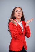 Suprised Business woman — Stock Photo