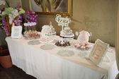 Wedding cake and sweets — Stock Photo