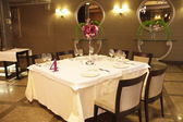 Wedding served tables — Stok fotoğraf