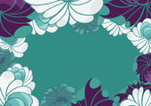 Abstract floral background for card — Wektor stockowy