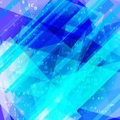 Blue computer data flow background — Stock Vector