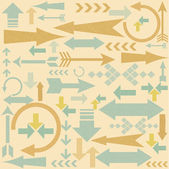 Vintage arrows pattern — Stock Vector