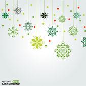 Jeu de fond de flocons de neige vectorielles — Vecteur