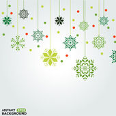 Vector set of snowflakes background — Stock vektor