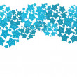 Abstract blue star pattern background — Stock Photo
