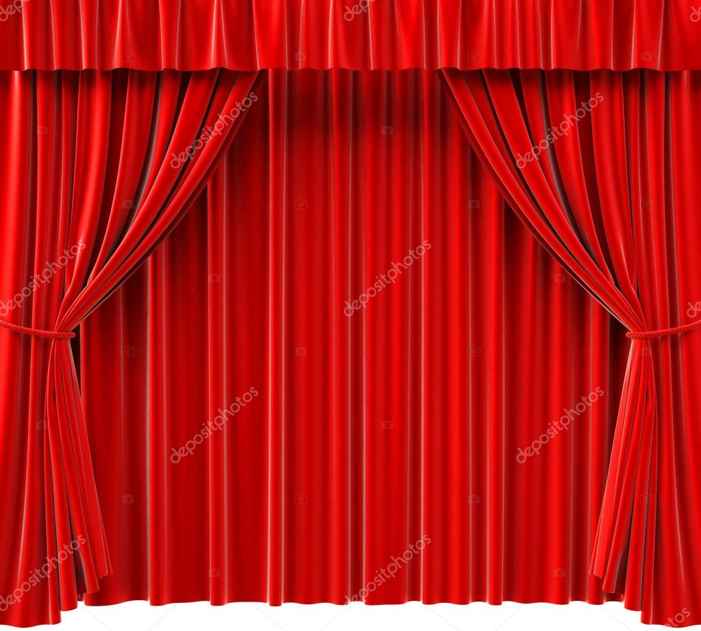 Red theatrical curtain. 3d image. — Stock Photo #12909156
