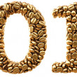 New 2014 year from gold coffee beans — Stock Photo