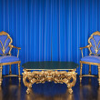 Luxurious chairs and a table — Stock Photo