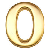 Number from gold — Stock Photo