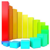 Colorful chart — Stock Photo