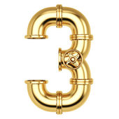 Golden Number 3 — Stock Photo