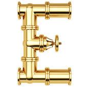 Golden Alphabet E letter — Stock Photo