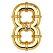 Golden Number 8 — Stock Photo