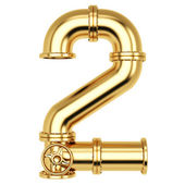 Golden Number 2 — Stock Photo