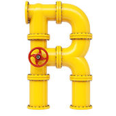 Alphabet R letter — Stock Photo