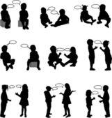 Dialogue children — Stock Vector