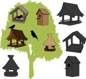 Feeder - bird house — Stock Vector