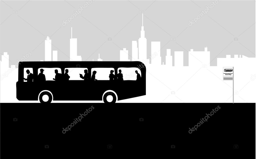 Bus Stop ad Vector Bus Stop Vector by Pablonis