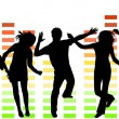 Illustration of people dancing  — Imagen vectorial