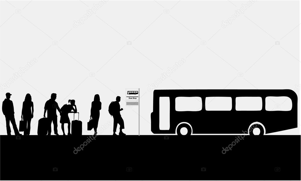 Bus Stop ad Vector Bus Stop City Live Vector