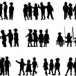 Vector de stock : Large group of children