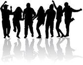народная партия танцы — Cтоковый вектор