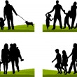 Stock Vector: Family silhouette
