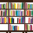 Stock Vector: Vector bookshelf