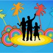 Family on vacations , vector work — Stock Vector