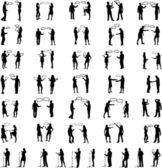 Dialog People -vectors work — Stock vektor