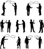 Caixa de diálogo de pessoas - trabalho de vetores — Vetor de Stock