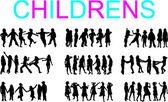 Children - 234 profiles! — Stock Vector