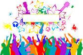 Party-people — Stockvektor