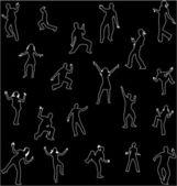 Dancing shadow — Stock Vector