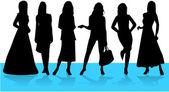 Fashion Women 1 — Stock Vector