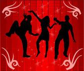 Danser à la lumière disco — Vecteur