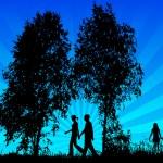 Family walk — Stock Vector #39335367