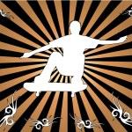 Skateboard silhouette -background — Stock Vector #39335531