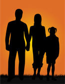 Familie und natur — Stockvektor
