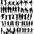 Collection of silhouettes — Vector de stock  #39631517